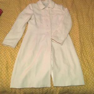 MD Merona Vintage White Wool Coat