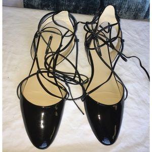 Zara Ankle tie Flats