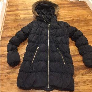 Long Black Puffer Coat (Sm)