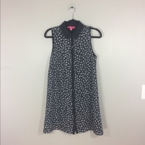 Betsey Johnson Printed Lace Button Up Dress
