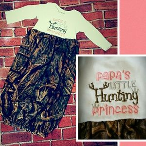 Papa's Hunting Princess Camo Pink Gown Girl Hunt