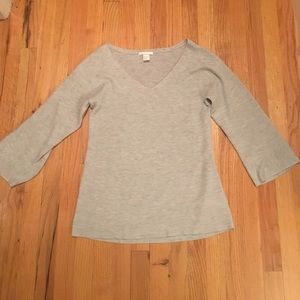 H&M grey ribbed sweater
