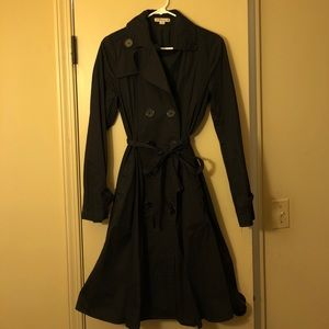 Solid Black Trench Coat
