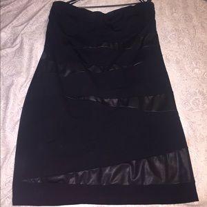 Torrid Bodycon Faux Leather Mini Dress