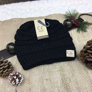 Accessories - Final Price! Kids C.C Beanie Black e11061df406