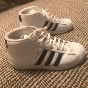 Adidas hightop sneakers