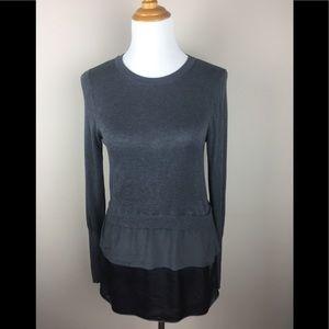 {Etcetera} Gray Silk Sweater