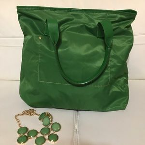 J.CREW LARGE GREEN TOTE