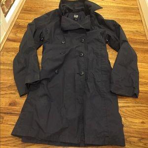 Gap Navy Rain/Trench Coat (L)