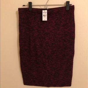 Maroon EXPRESS Pencil Skirt - Medium