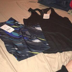 Fabletics capri workout outfit