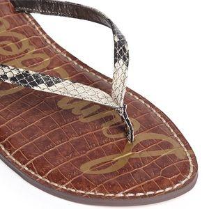 Sam Edelman Gracie Snakeskin Flip Flops
