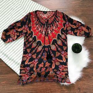 Tolani 100% Silk Tunic EUC