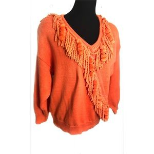 Vintage orange sherbet sweater