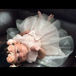 Carter's baby girl pale pink dress