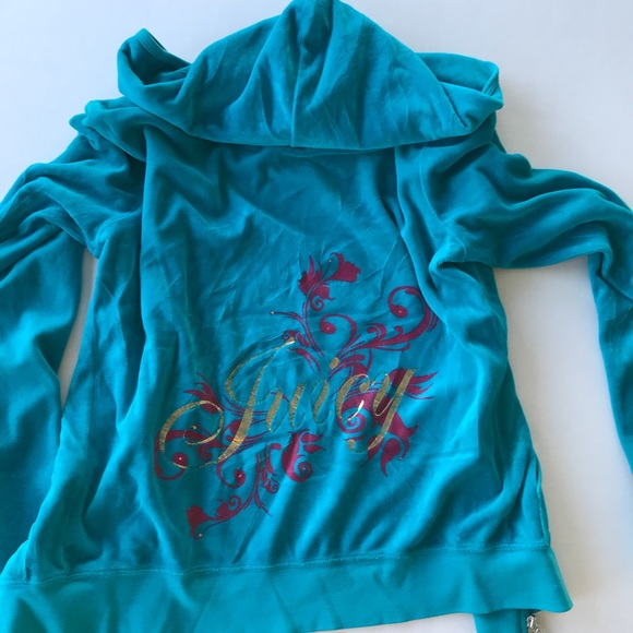 71febfd9b450 Juicy Couture Tops - Juicy couture Velour tracksuit jacket Hoodie XL