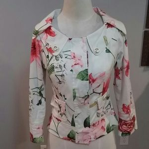 D&G Floral Collared Jacket Sz 26/40