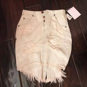Dresses & Skirts - One teaspoon knee length denim skirt