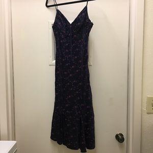 Beautiful navy and pink Betsey Johnson Dress