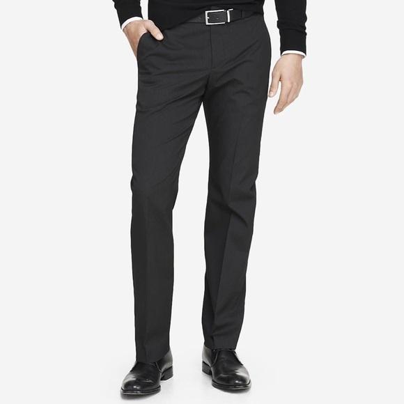 7c21d82b Express Pants   Men Black Pinstripe Producer Dress Trouser   Poshmark