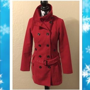 Jackets & Blazers - Junior's medium red pea coat
