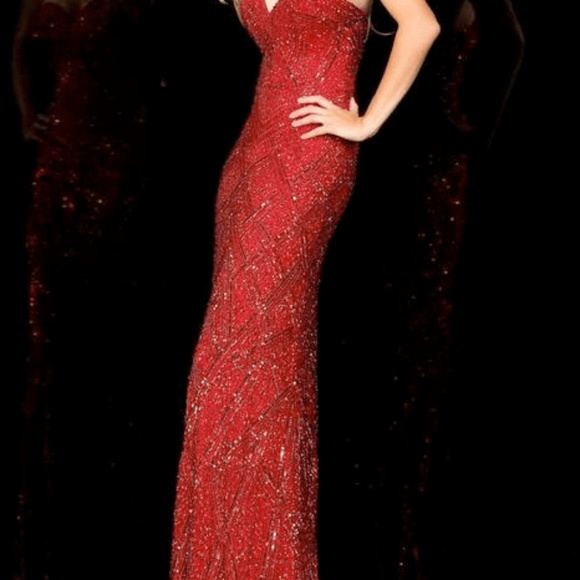 Scala Dresses | Diamonds Corset Evening Gown Red Size 6 | Poshmark