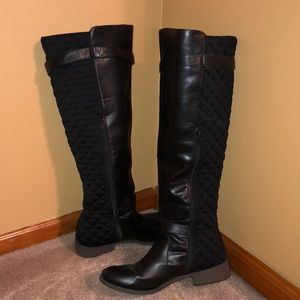 TALL black riding boots