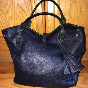 WOMENS J CREW NAVY BLUE TOTE HANDBAG