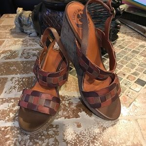 Lucky Brand leather sandals. Size 8 1/2.