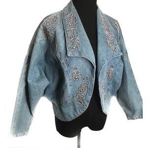 Vintage 80's Denim Jean jacket coat