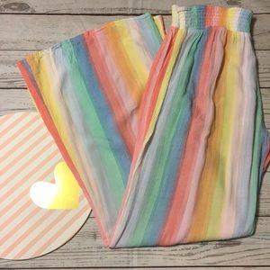 🌷The prettiest rainbow PJ pants, inseam 28'