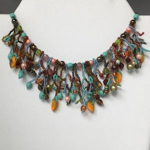 Jewelry - Crochet Beaded Necklace