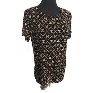 Vintage monogram top blouse