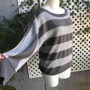 LANE BRYANT Gray Silver Metallic Sweater 14/16W