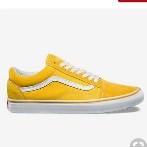 Vans Shoes   Yellow Classic Vans   Poshmark