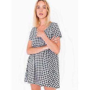 American Apparel Gingham Print Babydoll Dress