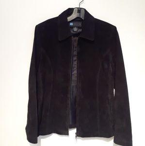 Jackets & Blazers - Black Leather Suede Jacket Women  Size M