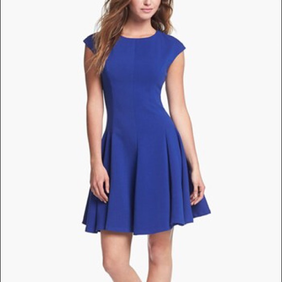 342db30d3e Eliza J Ponce knit Skater Dress in Royal Blue