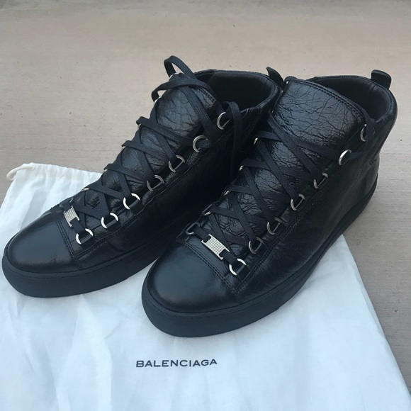 Balenciaga Mens Arena Leather Midtop