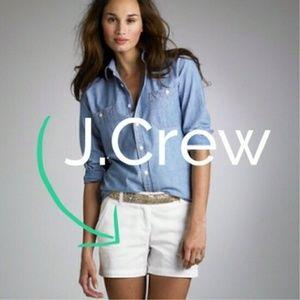 J. Crew classic twill chino shorts size 4