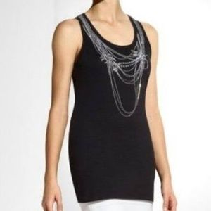NWOT BCBG MAX AZRIA COTTON EMBELLISHED TUNIC TOP