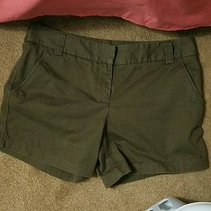 Brown J. Crew shorts size 10 city fit
