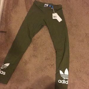 1d40b7d8c1d09 adidas Pants | Olive Green Trefoil Leggings Brand New | Poshmark