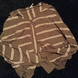 Free People Mocha Stripe cardigan