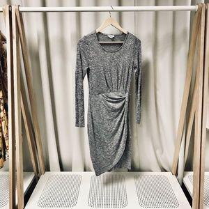 Bar III Twist Front Knit Midi Dress