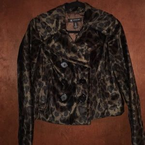 INC leopard print jacket!
