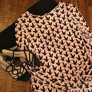 H&M High-Low Bird Blouse