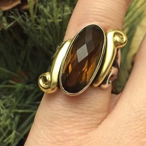 Jewelry - 18 Kt gold Ann King Sterling Silver Carnelian ring