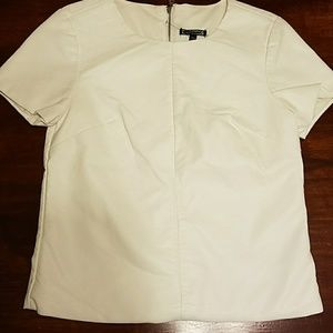 Express faux leather top SZ XS NWT