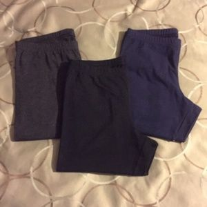 New/Like new bundle of 3 solid Old Navy leggings